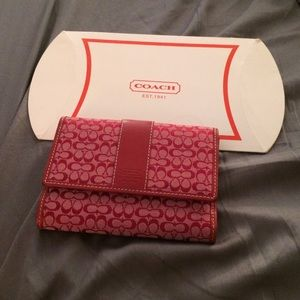 NWOT Coach Signature Wallet Red